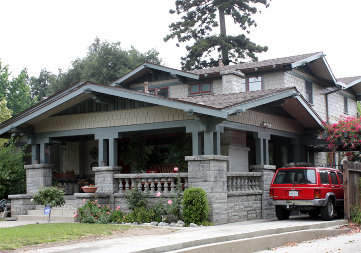 Redesigned craftsman with second story and front porch for Redesigning the front of your house