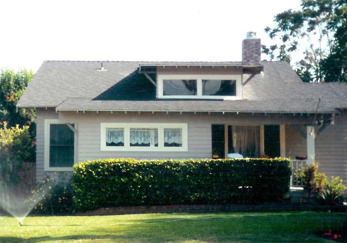 Historic details of Craftsman bungalow
