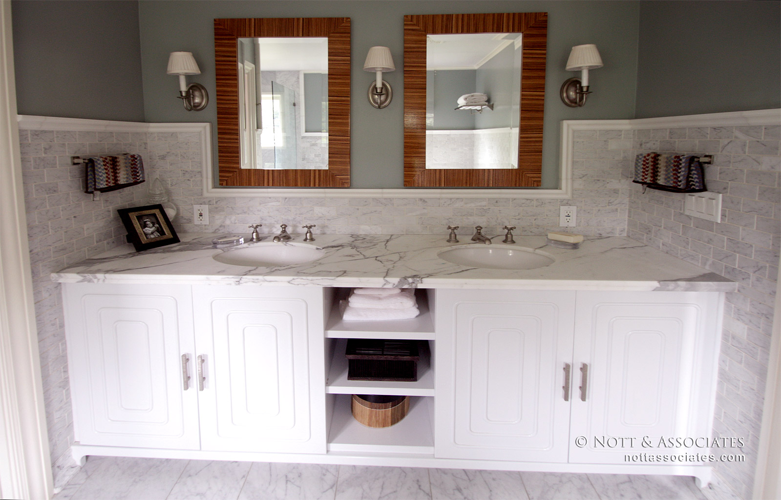 "Master Bathroom His And Hers a custom ""his & hers"" master bath - nott & associates"