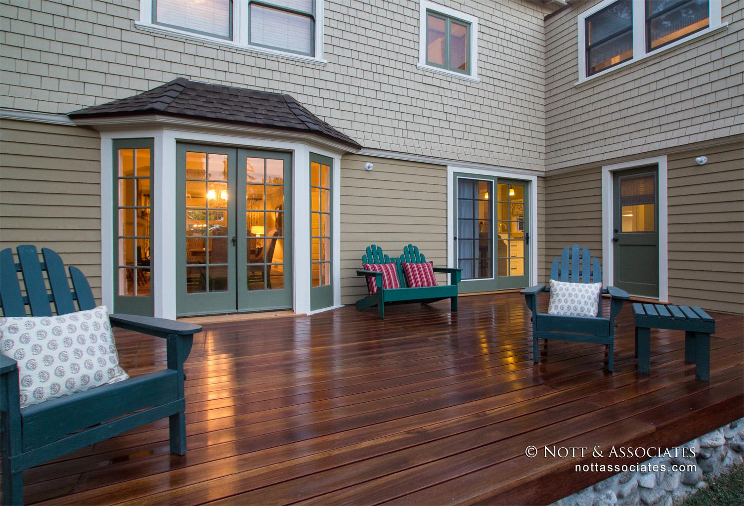Custom mahogany deck