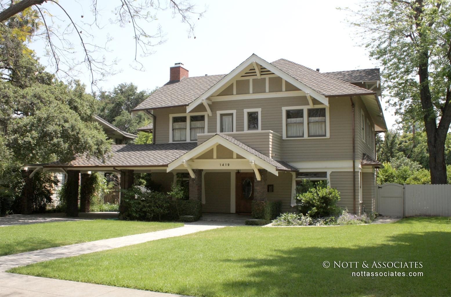 Completely restored South Pasadena Craftsman home.