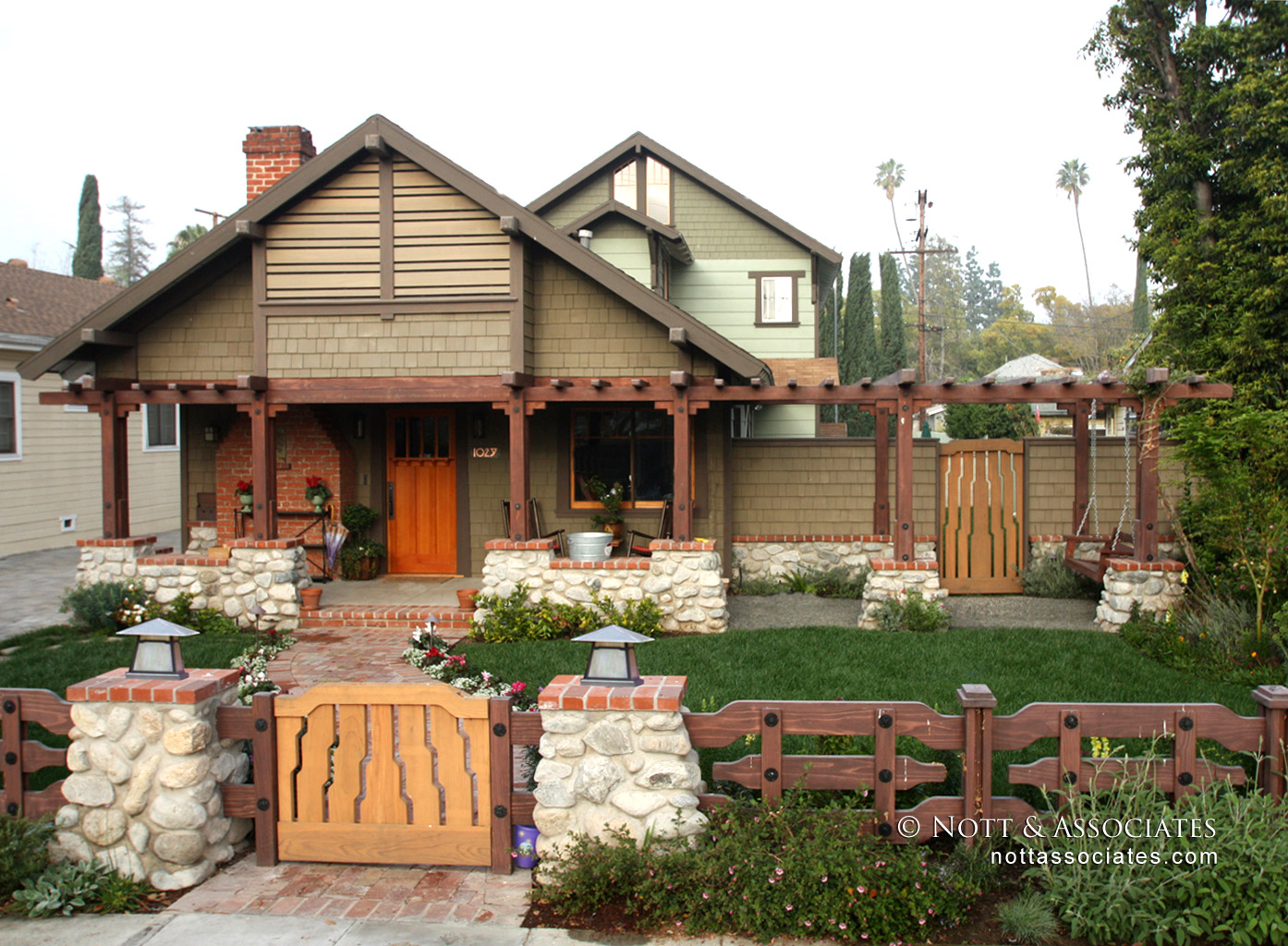 Restored Craftsman home with period details