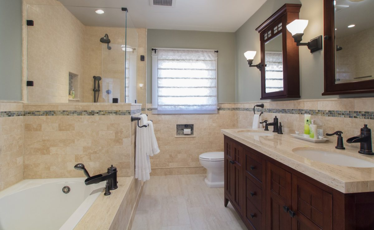 A Master Bath remodel with Craftsman details