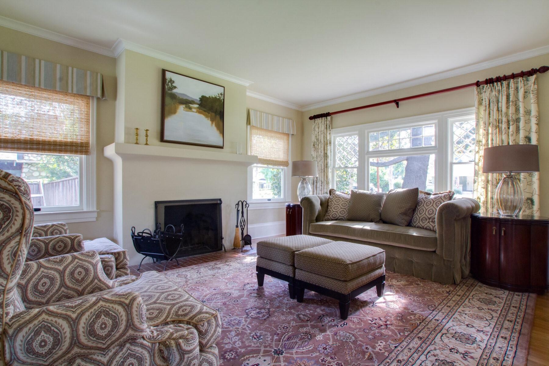 1903 Craftsman remodeled formal living room.