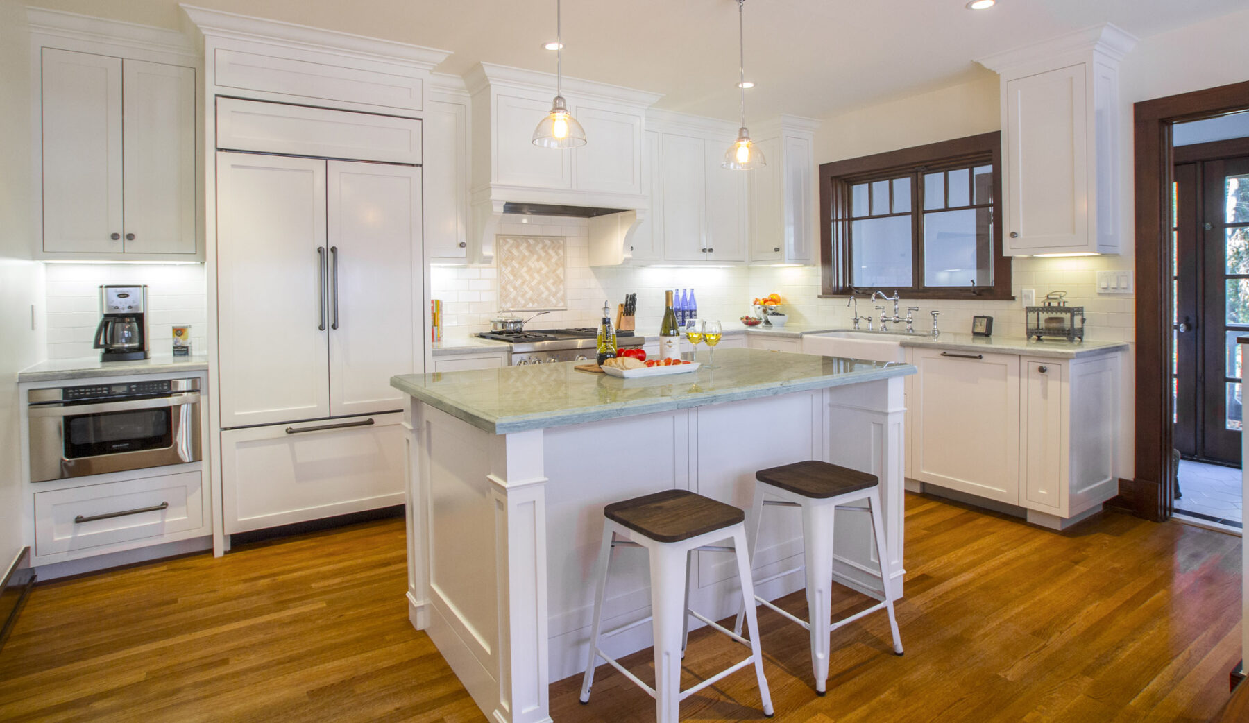 A 1910 Craftsman kitchen remodel with amenities for today's lifestyle