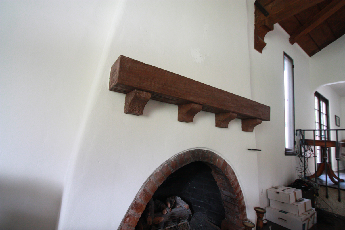 Spanish style remodel with a restored fireplace