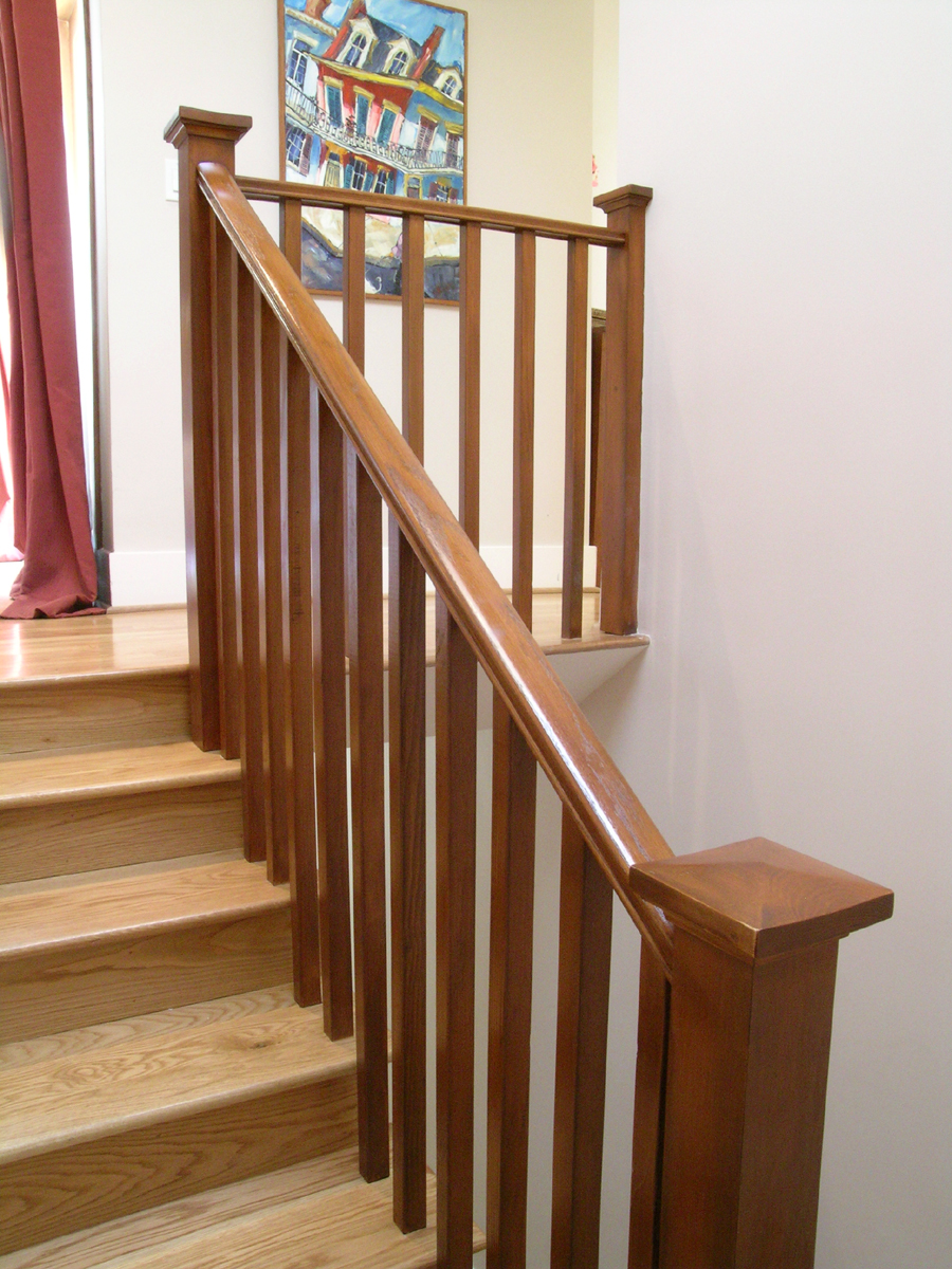 New Stained Oak Staircase And Handrail