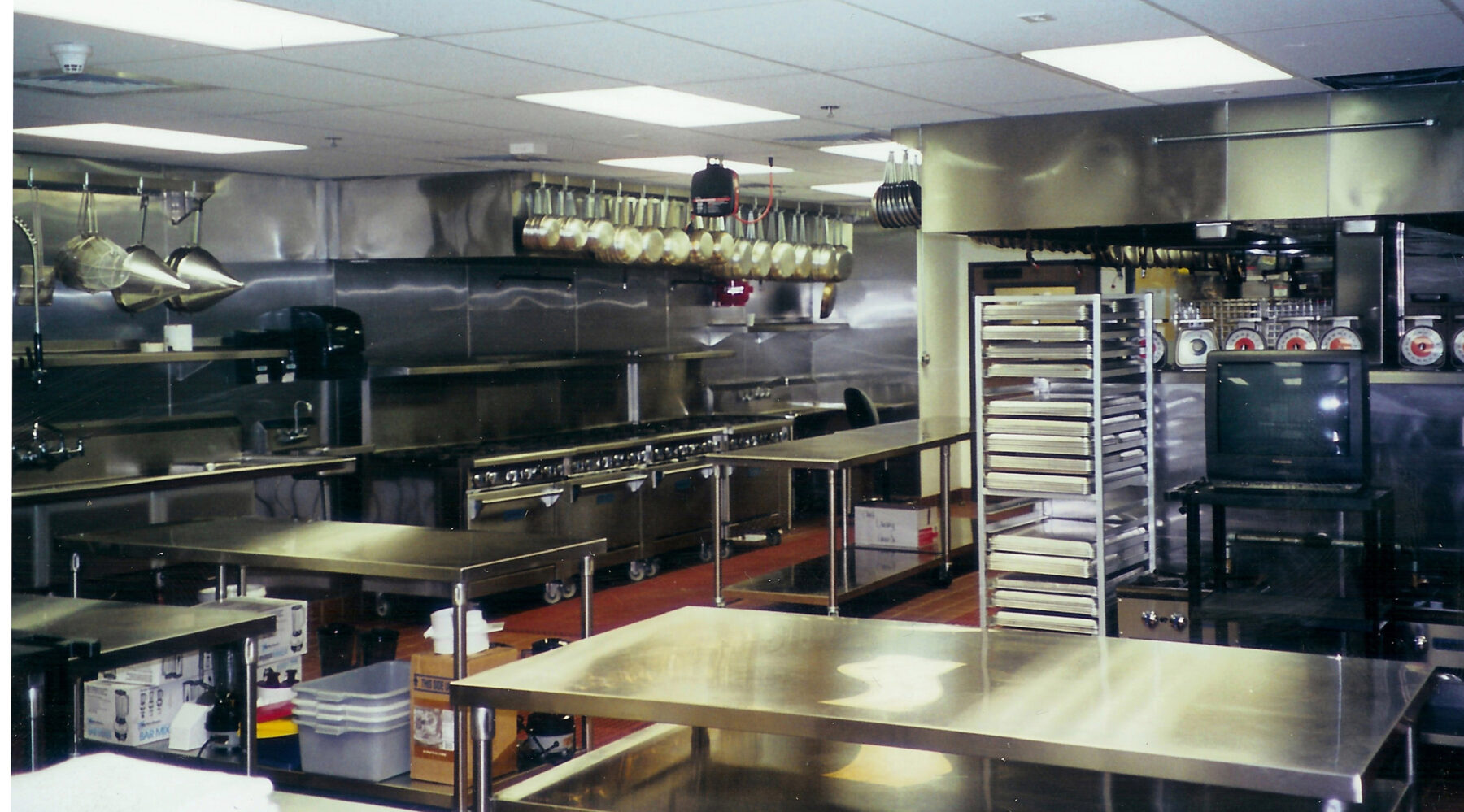 Le Cordon Bleu Culinary School working kitchen in Pasadena, Ca