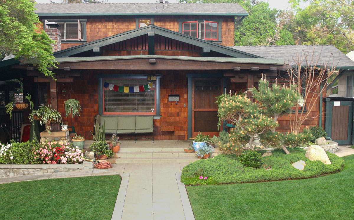 A Cedar shingled custom woodwork Craftsman gem.