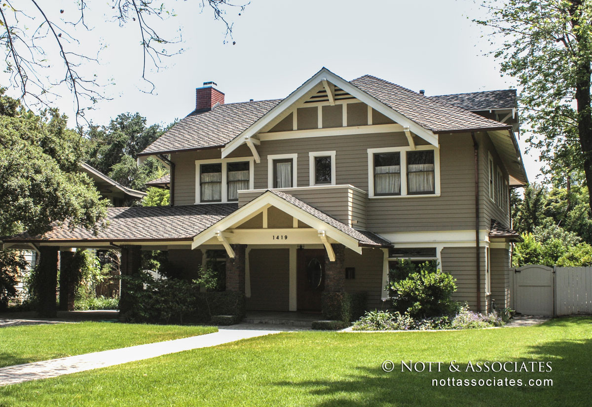 Remodeled Craftsman with period style details.
