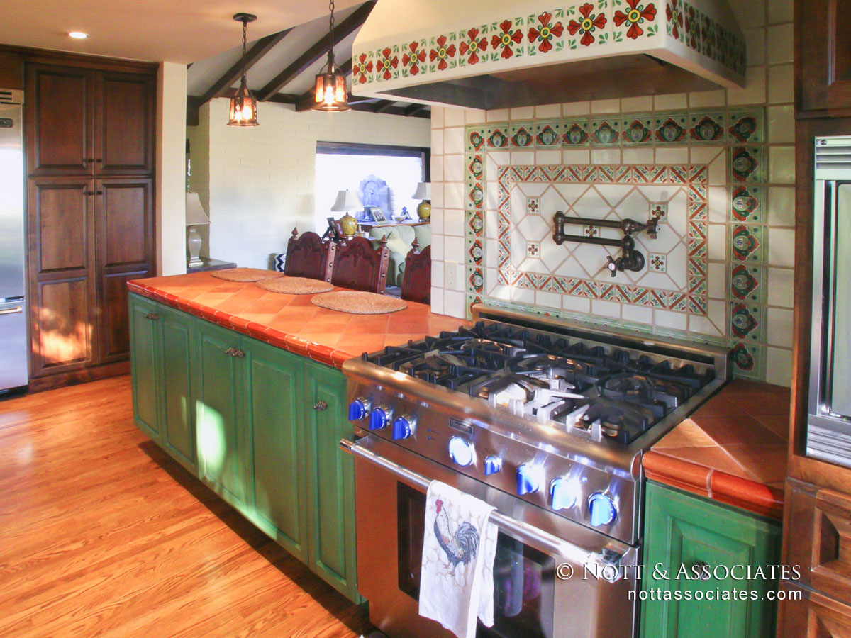 Spanish style Kitchen remodel with period style tile