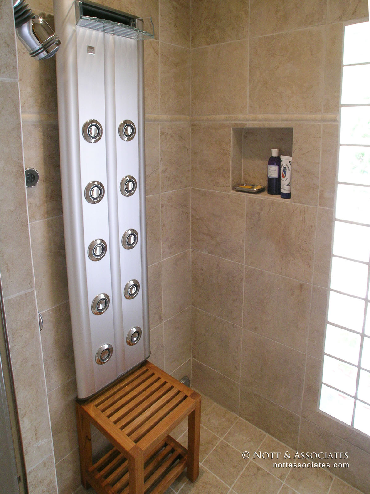 157 Anita Shower With Bench-Alex