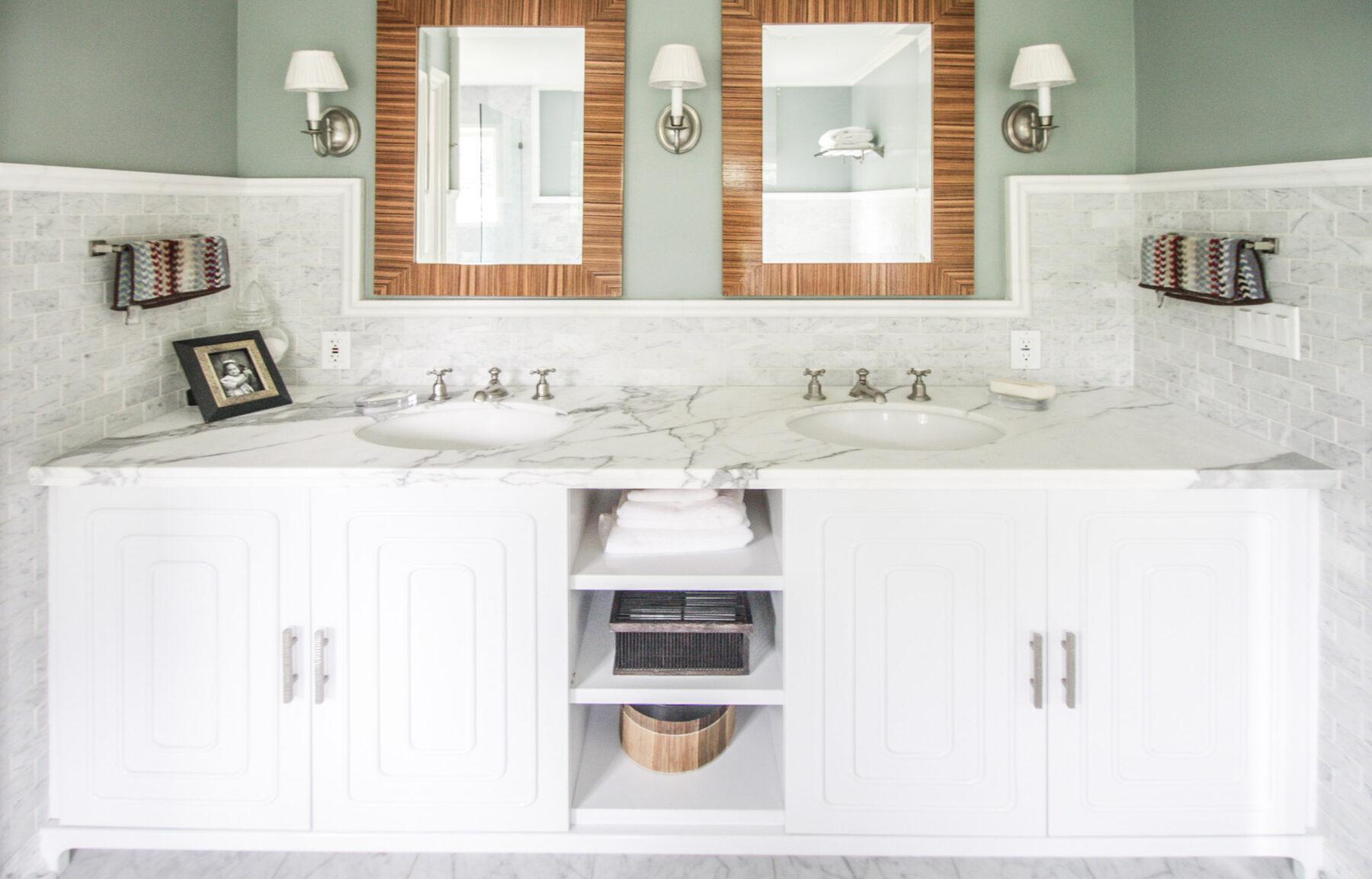 A Custom His & Hers Master Bath-