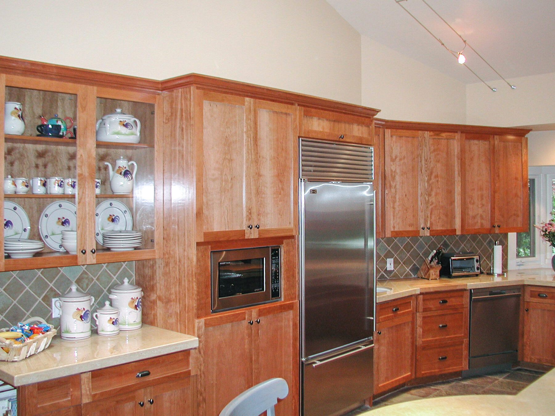 Cherry Wood Cabinetry-