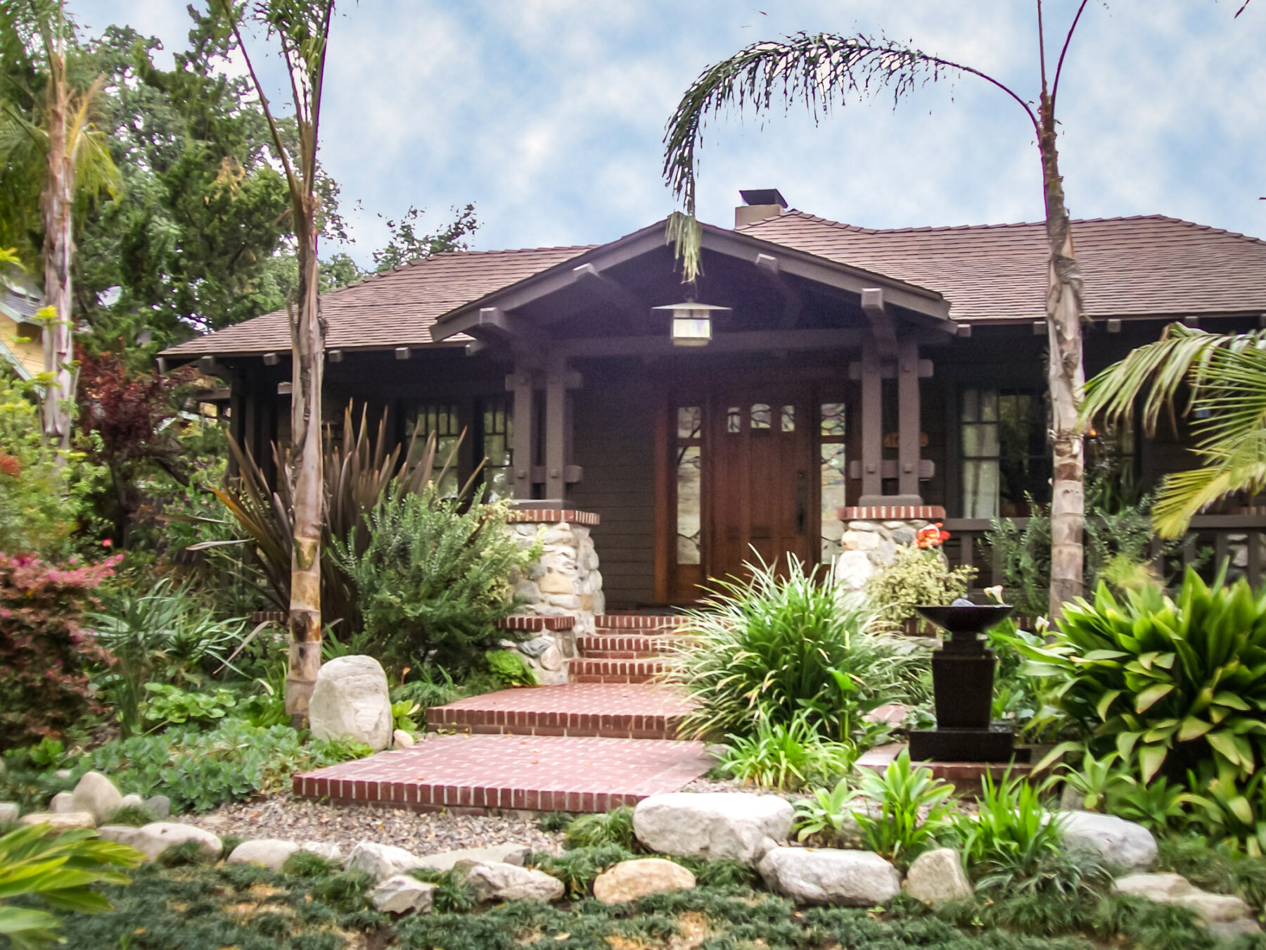 Remodeled Front Entry Of Craftsman