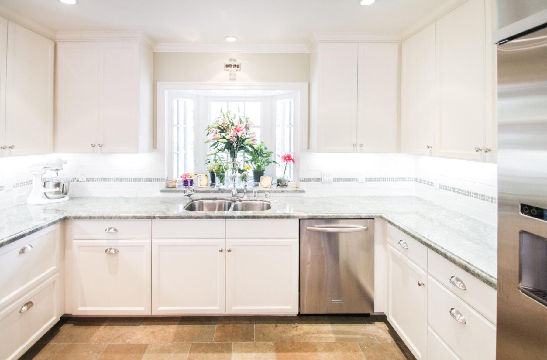 Closeup of remodeled craftsman kitchen
